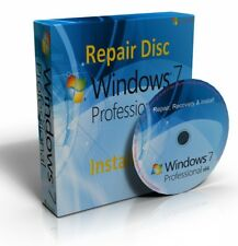 Windows 7 Professional 64 Bit Re-Install Restore Repair Boot Disc Recovery DVD