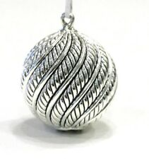 DAVID YURMAN Sterling Silver Classic Cable Ball Christmas Tree Holiday Ornament