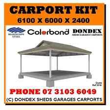 DONDEX SHEDS Dutch Gable Carport Kit 6.1x6.0x2.4 Colorbond Roof Facia Gutters