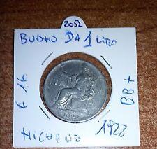 BUONO DI CASSA DA 1 LIRA 1922  N.2052