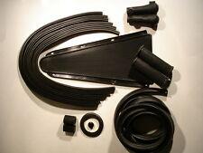 VESPA FULL RUBBER KIT - BLACK -  for Sprint / Rally