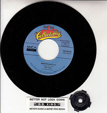 """B. B. KING  Better Not Look Down & Never Make A Move Too Soon 7"""" 45 record NEW"""