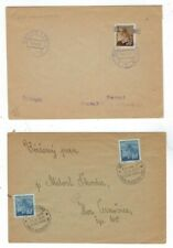 Two 1945 Czechoslovakia Liberation Covers, Domestic Usage, Single & Two Stamp