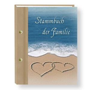 Stammbuch der Familie Ocean Stammbücher A5 A4 Strandhochzeit Familienstammbuch