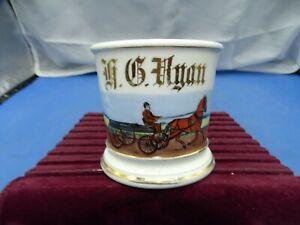 Vintage Ceramic Shaving Mug Horse & Wagon T & A France #415 L