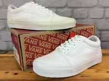 VANS UNISEX UK 6 EU 39 OLD SKOOL TRUE WHITE CANVAS TRAINERS MENS LADIES J