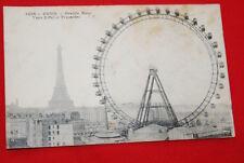PARIS GRANDE ROUE TOUR EIFFEL TROCADERO 1920