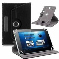 "Universal Tablet Case Black Leather Folio Stand Cover Google Samsung Asus 7"" In"