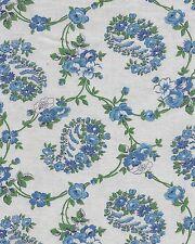 Vintage Blue Floral Paisley Design Feedsack Feed Sack