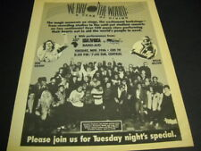 We Are The World A Year Of Giving original 1985 Promo Poster Ad - Tuesdat Night