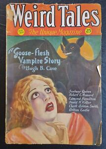 WEIRD TALES 1932 Science Fiction Frankenstein David Keller Hugh Cave...