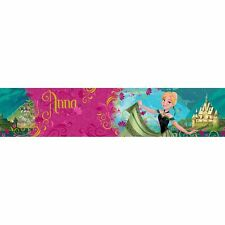 DISNEY FROZEN 'ANNA' 5m WALLPAPER BORDERS SELF-ADHESIVE NEW OFFICIAL FREE P+P