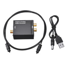 Digital Optical Coaxial Toslink To Analog Audio Converter Cable 3.5mm RCA L/R