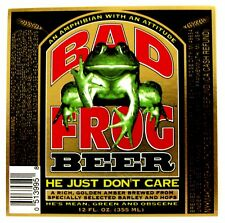 Wauldron Corp by Frankenmuth Brewery BAD FROG BEER label  MI 12oz Var. #2