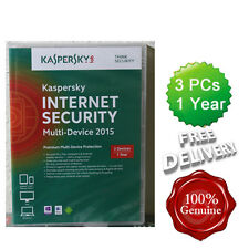 Sealed kaspersky internet security 2015 3 utilisateurs multi dispositif inc antivirus boxed