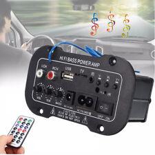 Car Stereo Amplifier HiFi Bass Power AMP Bluetooth Remote Control USB TF card