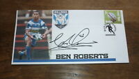 CANTERBURY BULLDOGS CHAMPION BEN ROBERTS HAND SIGNED RUGBY SOUVENIR COVER
