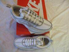 Nike men's air zoom spiridon'16 sz 11 white/metallic silver (926955 105) ret$160