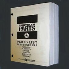 Factory MoPar Parts Manual for 1955-58 Plymouth - Dodge - DeSoto - Chrys - Imper