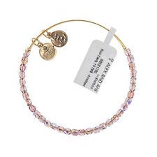 Alex and Ani AMETISTA Rock Candy con perline oro braccialetto BBEB 178 G-RRP £ 33