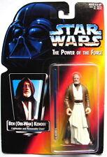 Star Wars POTF Obi Wan Kenobi LS Long  saber  Orange Card 1995 MOC ANH E IV 616