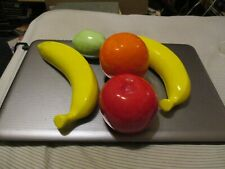 5 Pieces Life Size Ceramic Fruit 2 Banana Orange Apple Lemon