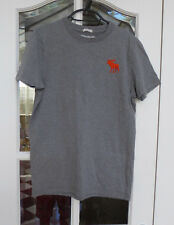 Abercrombie & Fitch A&F Hombre Gris Músculo Camiseta Tamaño Pequeño
