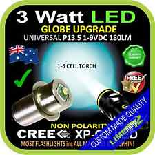 LED 1-9V UPGRADE CREE 3W BULB GLOBE for MAGLITE FLASHLIGHT TORCH 180lm 1-6 CELL