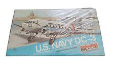 Monogram US NAVY DC-3 Douglas Twin Engine Workhorse Model Kit 7590 New Sealed