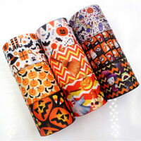 3//6//12m of Halloween Grosgrain Craft Gift Wrap Ribbon Ghost Spider Web Witch Hat
