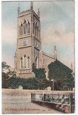 The Parish Church - Broadstairs - Vintage Postcard 1906 king Edward VII Stamp