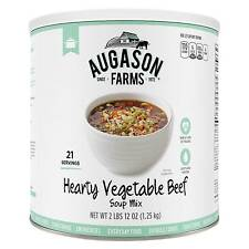 Augason Farms Hearty Vegetable Beef Soup Mix Emergency Food - 44oz