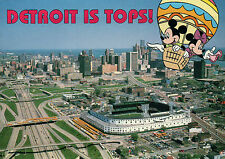 Tiger Stadium, MI, Detroit Tigers, Mickey Minnie Mouse  -  5 x 7 Disney Postcard