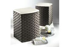 """Wäschekorb klein aus Nylon neu mit Futter Farbe """"schwarz weiß""""  Sitzhocker"""