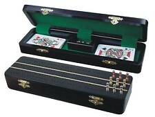 "Sovereign Cribbage Board / Box in Ebony / Maple 12"" - 3 Tracks"