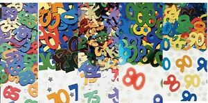 1 PACK 65,70,75,80,90TH BIRTHDAY CONFETTI / TABLE SPRINKLES MULTI COLOUR PARTY