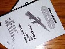 BUSHMASTER M17S Bullpup  Rifle Owners  Manual