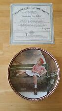 "Norman Rockwell Collectors Plate ""Breaking the Rules"" Studies of Girlhood"