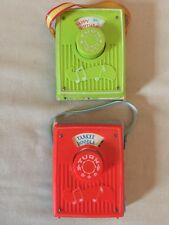 Fisher Price 2 Radios Happy Birthday And Yankee Doodle Vintage