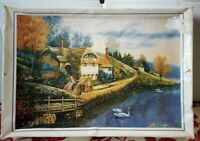 1000 Pce Jigsaw Puzzle Riverside Cottage Complete Lake Thatched Hansel Gretel