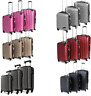 Hard shell Suitcase Case Trolley Travel Light Hand Cabin Case 4 Wheel Luggage