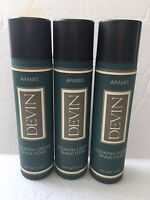 Armies Devin Men's Country Cream Shave Foam 3 X 6.0oz Hard To Find 3 Count (NEW)