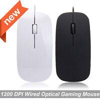USB 1200 Dpi Cableado Optico Gaming Ratones para Portátil Pc Win 7/10 Ios Etc