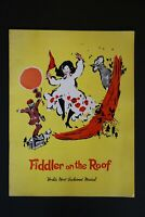 Paul Lipson Autographed 1960s Fiddler on the Roof Playbill