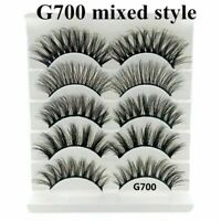 5Pairs 6D Mink False Eyelashes Nature Cross Soft Long Eye Lashes Extension