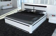 Polsterbett VENEDIG mit LED Beleuchtung Leder Doppelbett Designerbett Ehebett