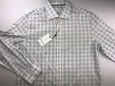 NWT ROBERT GRAHAM ALF L/S CLASSIC FIT BUTTON SHIRT GREY 17 - 34/35 MSRP $148