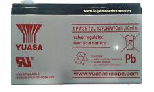 YUASA NPW36-12 SOSTITUISCE NP7-12 Batteria YUASA ermetica piombo 12V 7Ah f