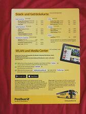 Safety Card Speisekarte Postbus - nicht Lufthansa