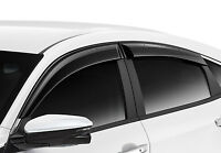 GENUINE OEM JDM BLACK SUN WINDOW DOOR VISOR FOR HONDA CIVIC SEDAN FC 2016-2019